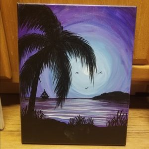 Canvas paintings all done free hand.